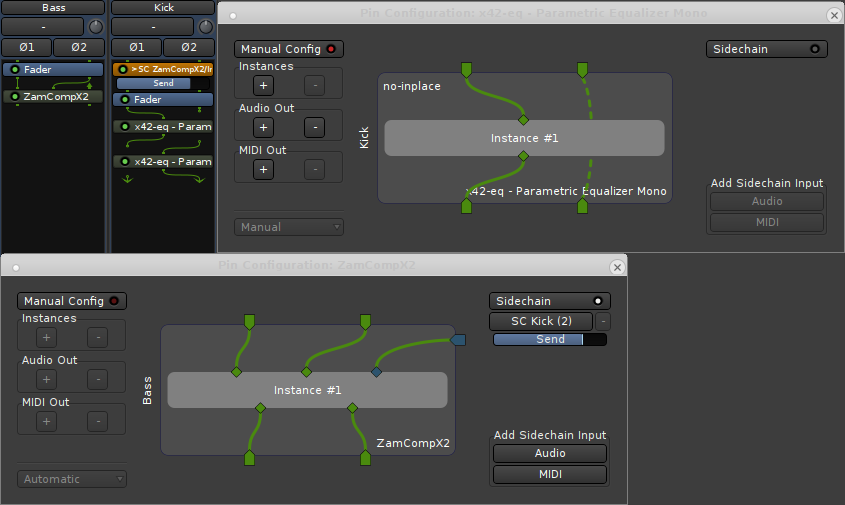 screenshot showing plugin pin management